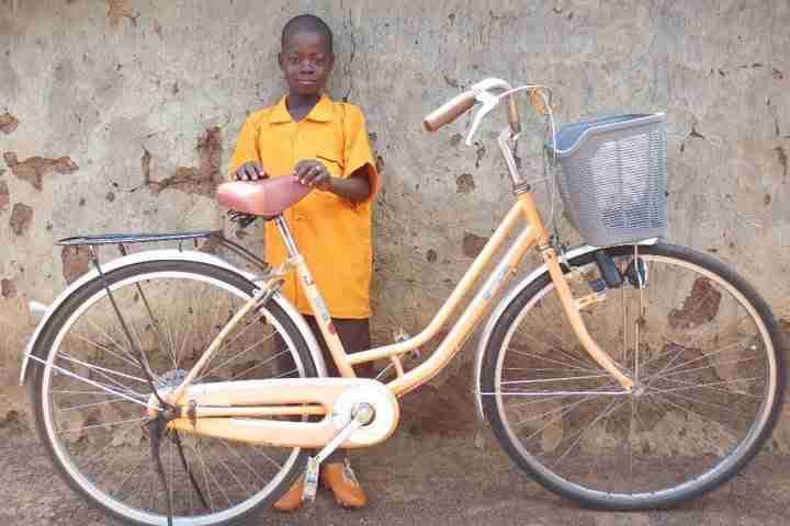 Haruna with Bike