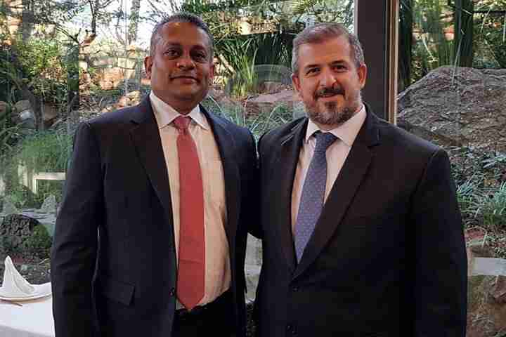 Patrick with the Minister Ricardo Gonzalez Borgne