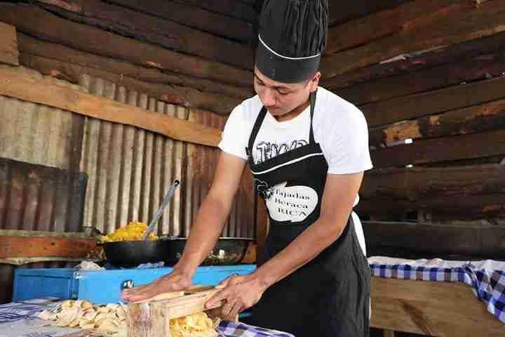Boy Prepping Food Nicaragua