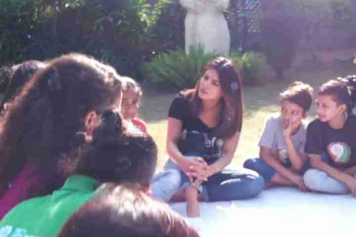 Bollywood star visits children