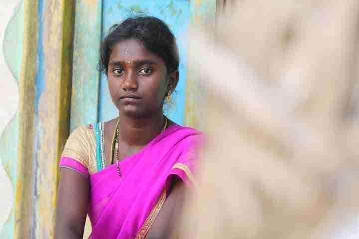 Sad youth in India