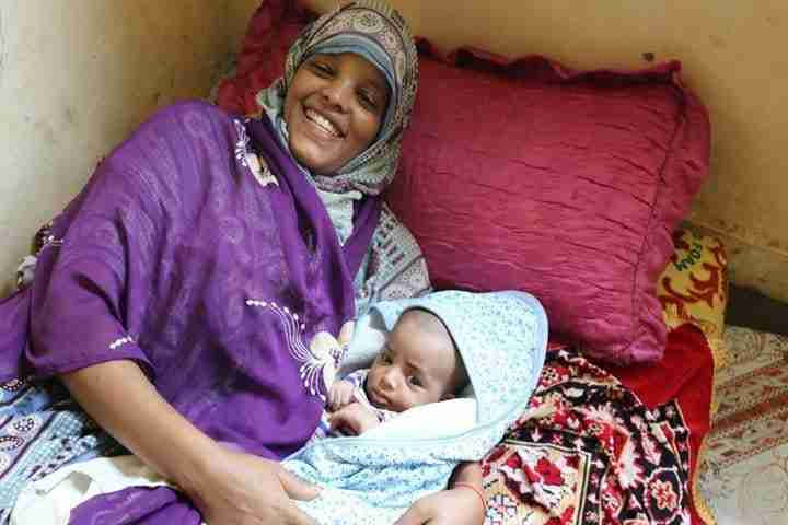 New mom and baby in Ethiopia