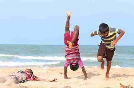Playing of Beach India