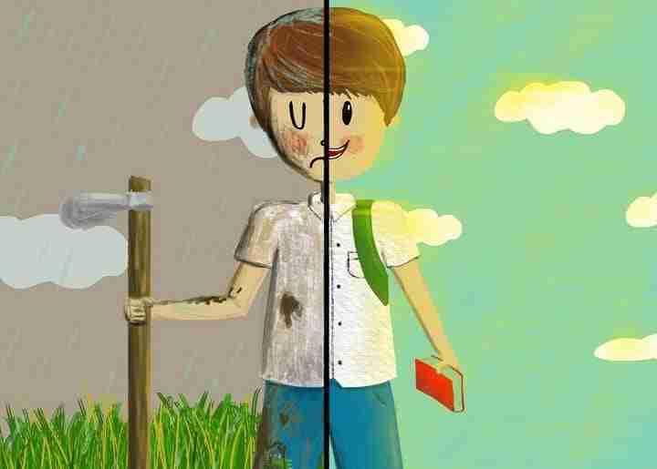 child labour illustration