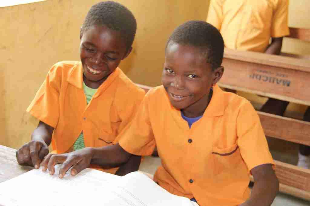 Boys at school in Ghana