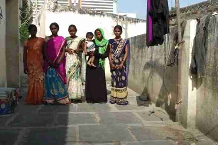 Child brides in an alley