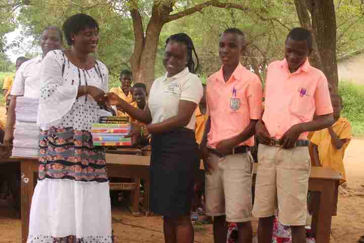 Students are presented with books