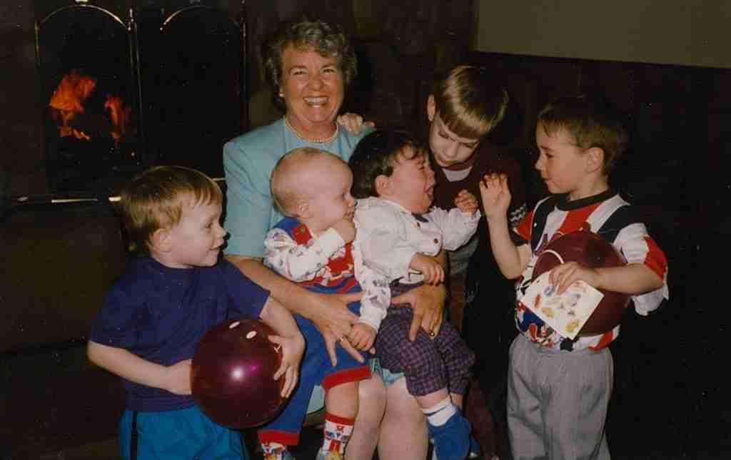 Donor kids around with her grandkids